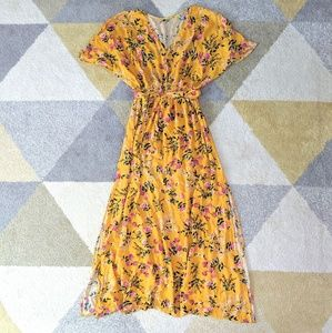 Floral Boho Maxi Dress - Size XS (fits XS-S imo)